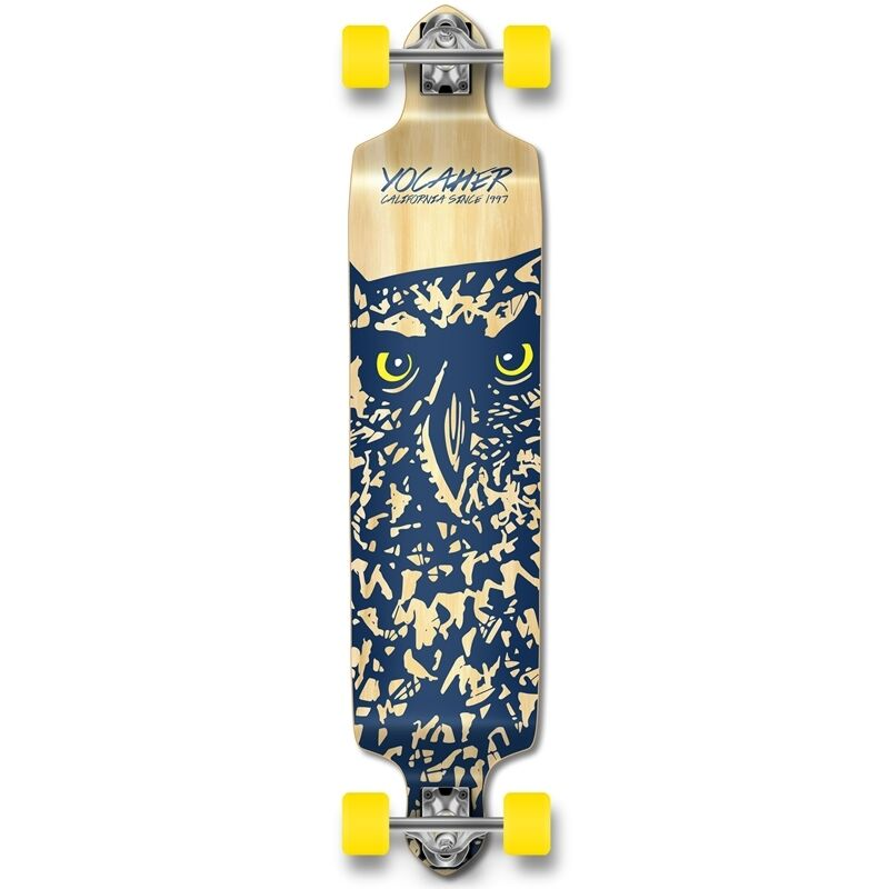 Yocaher Drop Down Longboard Complete - Spirit Animal OWL