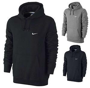 Nike-Mens-Swoosh-Fleece-Hoodie-Pullover-Hooded-Jumper-Top-Sweatshirt-Cotton-Size