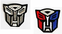 TRANSFORMERS Sew Iron On Transfer Fabric Embroidered Patch Applique Kids Craft