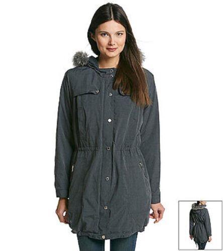 New Large Frakke 199 Jones Størrelse Grey Hooded York Fur Jacket Nwt q6Pz5AA