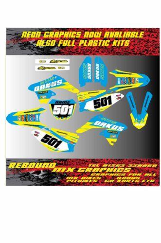 Suzuki RM 65 85 125 250 450 Kit de la etiqueta engomada H kit de gráficos calcomanías Motocross