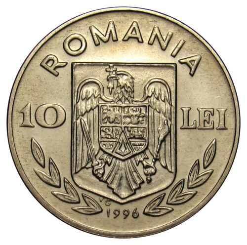 Romania 10 lei 1996 Coin KM#120 Olympic games Atlanta Swimming from mint bag