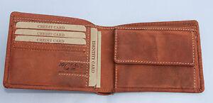 RFID-NFC-Geldboerse-Naturleder-Brieftasche-Geldbeutel-Portmonai-Rindleder-Robust