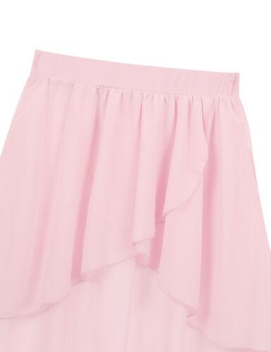 Toddler Kids Girls Tutu Skirt Wrap Chiffon Ballet Dance Wear Dress Party Costume