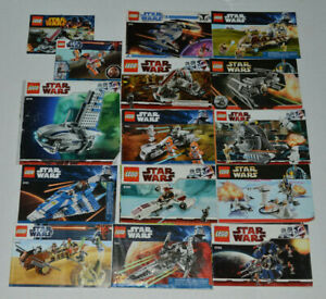 Large-Lot-Of-27-Star-Wars-Lego-Instruction-Manual-Booklets