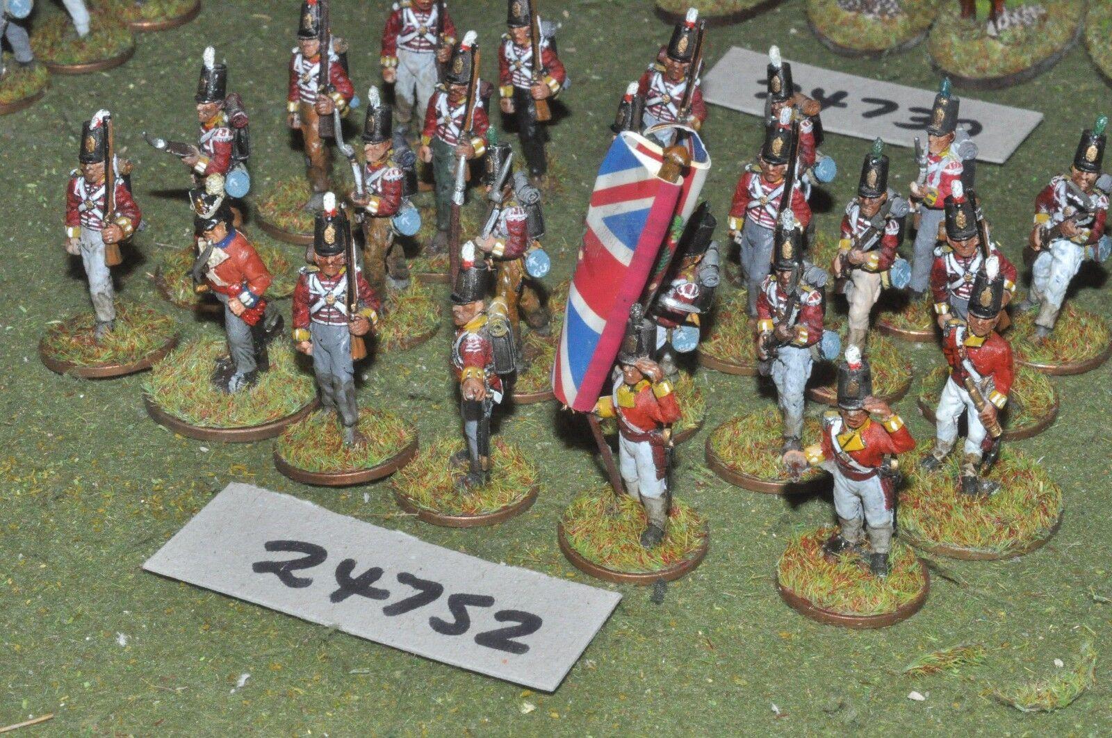 25mm napoleonic   british - regiment 24 figures - inf (24752)