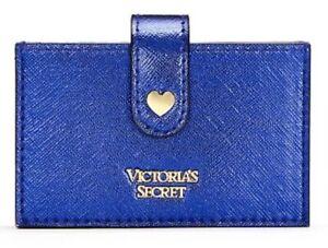 Victoria-039-s-Secret-Vs-gioiello-metallico-FISARMONICA-card-case-wallet-blu-Zaffiro-NUOVO