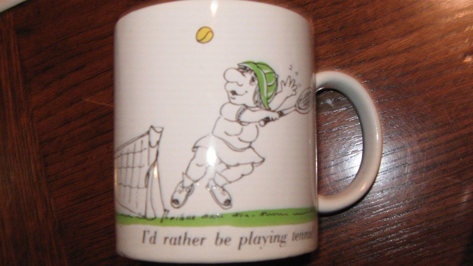 Mugs, Lot of 3, Heart , Tennis , Friday Yet ?