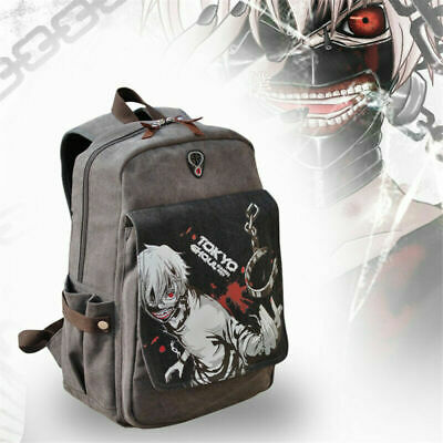 Tokyo Ghoul Kaneki Ken Backpack Anime Canvas Schoolbag Travelling Laptop Bag