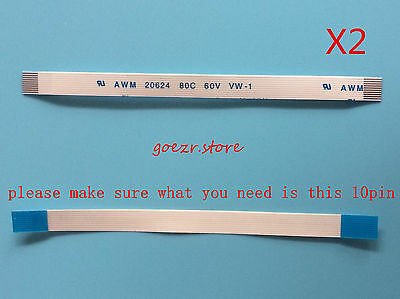 2x Power Eject Button Flex Ribbon cable repair part 10pin for PS3 Slim 120G/160G