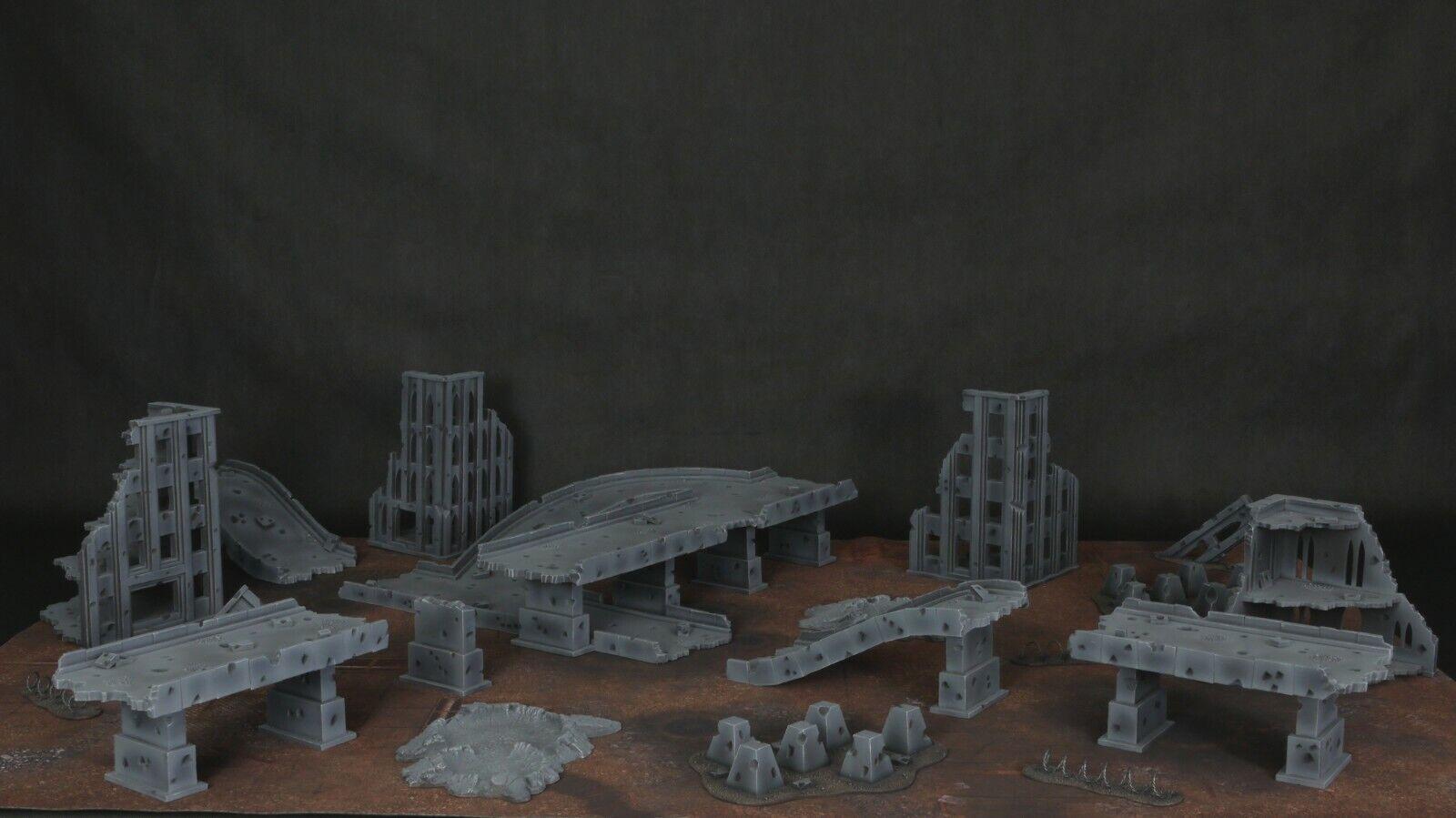 Autopista cityfight terreno Set (fotos en descripción)