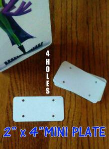 "Dye Sublimation Aluminum 2/"" x 4/"" Mini License Plate Blanks 20PC Lots"