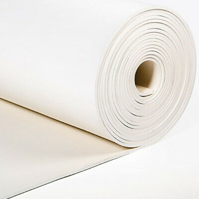 "White FDA Nitrile Rubber Sheet 1//16/"" Thick x 8/"" x 8/"" Sq Pad  60A Duro"