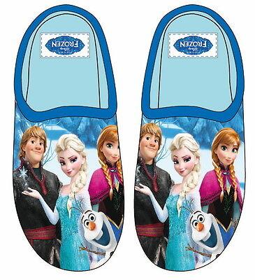 Boys Girls Disney Frozen Velcro/Mule Slippers Sizes 6-2 Slipper Boot Olaf 3D