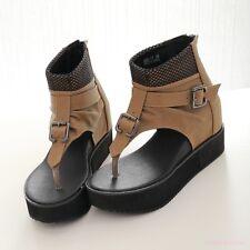 af04a48223f item 5 Vogue Womens Faux Leather Flip Flop Slope Heel Wedge Shoes Ladies  Sandals Size -Vogue Womens Faux Leather Flip Flop Slope Heel Wedge Shoes  Ladies ...