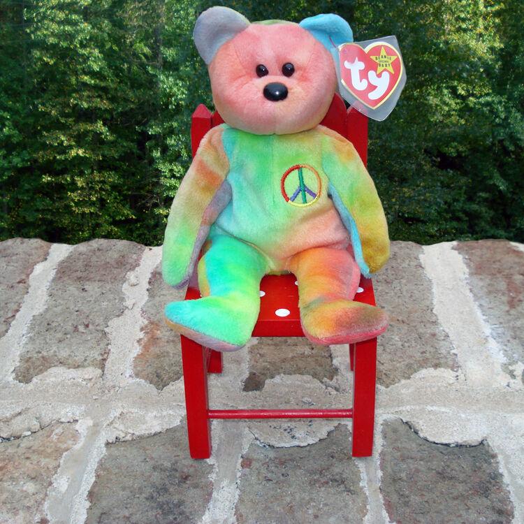 Mützen - ty 1993 mint frieden der bär die beanie baby - schöne farben