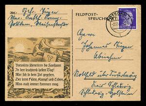 Germany 3rd Reich WW2 WWII Picture Postcard German Hitler Soldier Fieldpost 1942