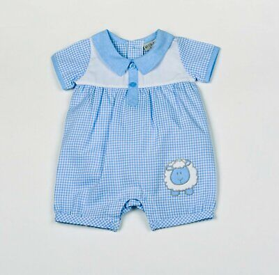Baby Boys Spanish Romany Style Smocked Little Ducks Dungarees /& Top NB 0-3 3-6 m
