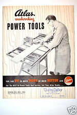 ATLAS WOODWORKING POWER TOOLS CATALOG No. W55 1954 #RR172 saw drill jointer