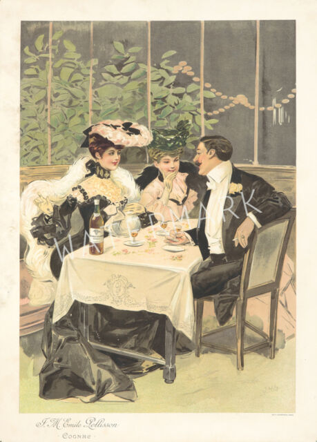 Unique Vintage French Art Advertising Print. Choice of 2 sizes