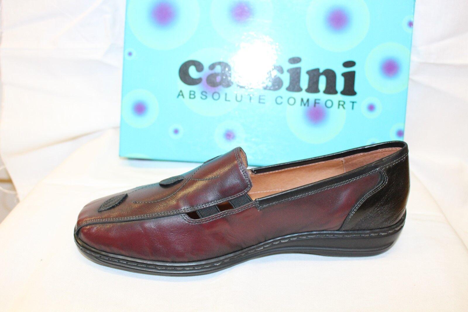 LADIES SHOES/FOOTWEAR - Cassini Marlow shoe bordeaux/black