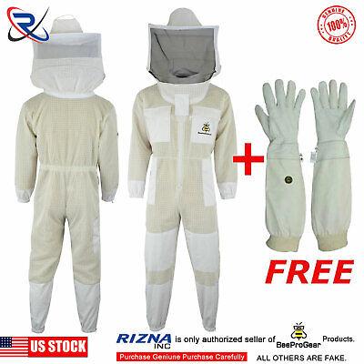 Professional Bee 3 Layer UV beekeeping beekeeper jacket Round veil size /<XL/>