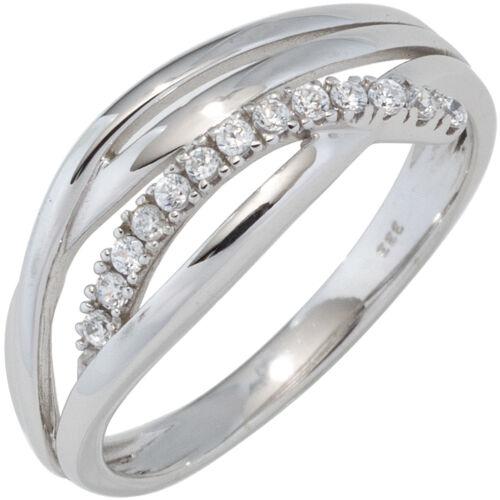 Anillo de mujer 333 oro trébol con circonita goldring blanco anillo de oro