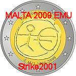 2 Euro Commemorativo Malta 2009 Emu 10° Anniversario GuéRir La Toux Et Faciliter L'Expectoration Et Soulager L'Enrouement