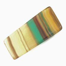 "RAINBOW FLUORITE Argentina Polished Slice 33.9g 2.56"" w/ Healing Property Card"