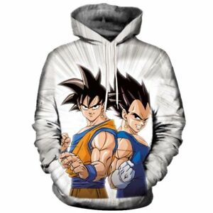 New Women Men Dragon Ball Z Kids Goku 3D Print Casual Hoodie Sweatshirt Pullover