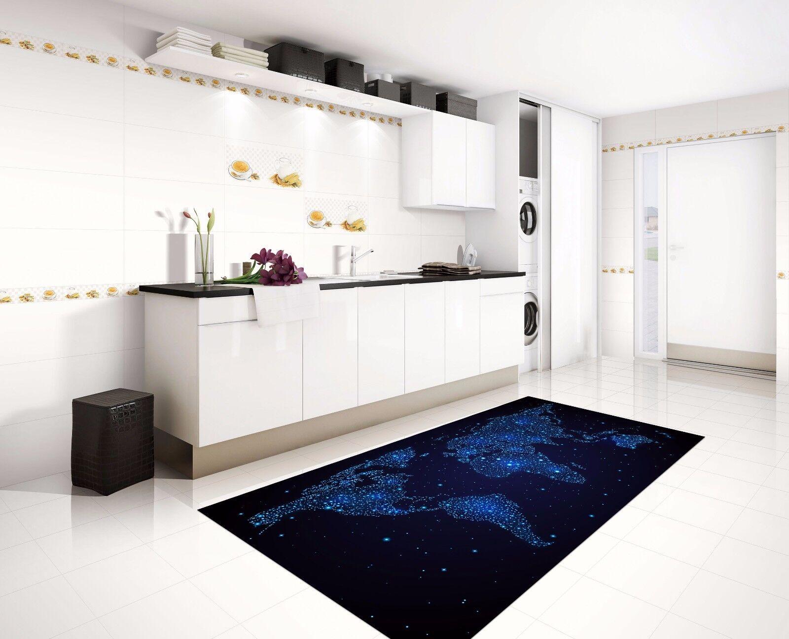 3D Blau Map 537 Kitchen Mat Floor Murals Wall Print Wall AJ WALLPAPER AU Kyra