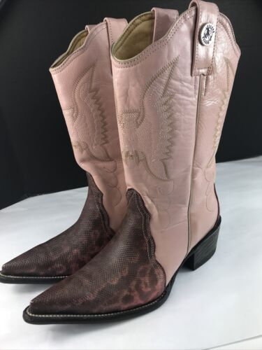 Vintage ROGERS Cowboy Boots 7 M Mens EXOTIC Snake… - image 1