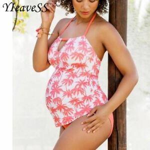 72bf6f405a9 Two piece Tankini Set Large Plus size Swimwear Retro Women Swim ...