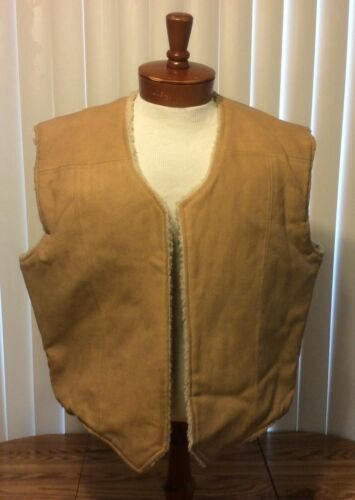 VTG Frostline Kit Vest Faux Leather/Sherpa Mens XL