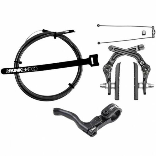 KINK DESIST MATTE BLACK U BRAKE KIT FORGED ALUMINUM REAR BMX BRAKES