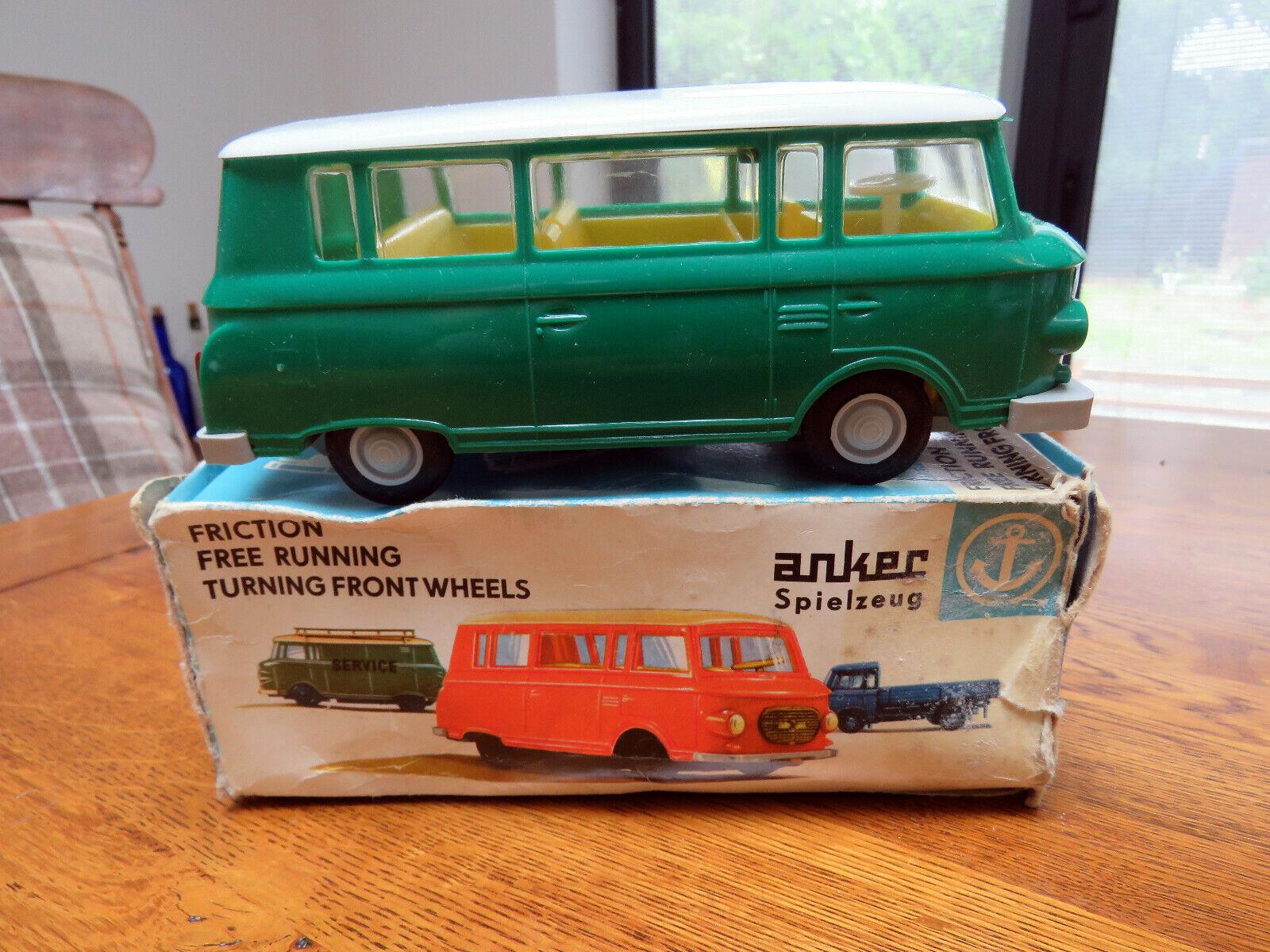 Anker Barkas B1000 DDR MINI autobus autobus autobus verde & GItuttiO gratis in esecuzione giocattolo FRIZIONE in scatola 5f4225
