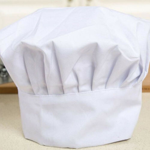 FREE SHIPPING USA ONLY CHEF HAT WHITE CLOTH ONE SIZE FIT ALL