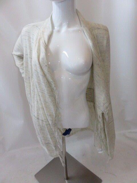 FREE PEOPLE Ivory Long Sleeve Fringe Cardigan Size XS TP