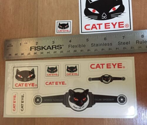 Japanese Technology Cycling CATEYE Decal STICKER set Trust the Cat 11 stickers