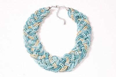 Chic Turquoise Ladies Multi-strand Choker Necklace w Multicolored Beads S573