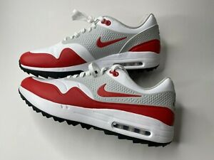 Details about Nike Air Max 1 Golf Spikeless Mens Size 13 White University  Red AQ0863-100 New