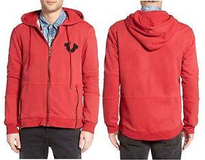 9ba6220a6 True Religion Brand Jeans Men s Big Horseshoe Moto Jacket Hoodie ...