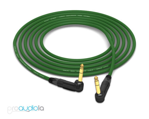 "Mogami Quad 2534 CableNeutrik Gold Right-Angle 90º 1//4/"" TRSGreen 2.5 Feet"