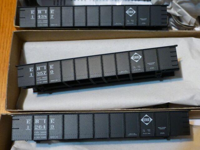 Accurail HO #37554 (3pk) Erie (41' Steel Gondolas) Rds 14387, 13570, & 12649