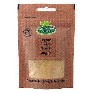 Organic Ginger Powder 40g Certified Organic