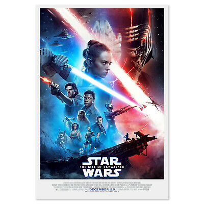 "Star Wars The Rise of Skywalker Poster Set of 2 48x32/"" 36x24/"" 2019 Print Silk"