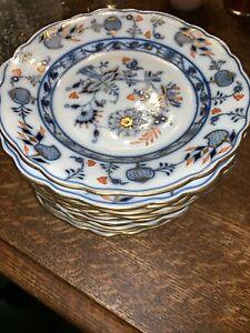Antique-19th-C-Meissen-Rich-Blue-Onion-SALAD-PLATE-7-1-2-Wide-8-Available