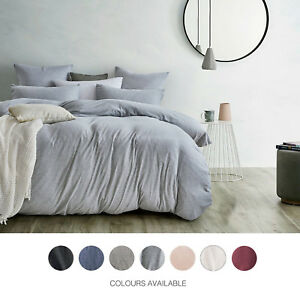 New Gioia Casa Jersey 100 Cotton Quilt Cover Set Single Double