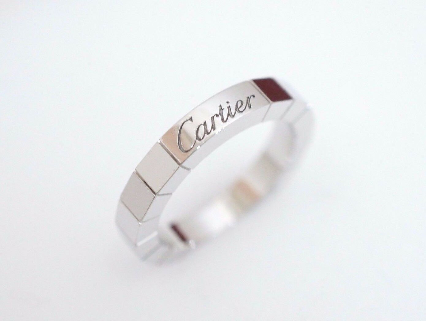 Cartier 18k White gold Lanieres Ring US 4