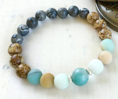 Blue jade pearl Buddhism 108 handchain necklace calabash maran pray meditation